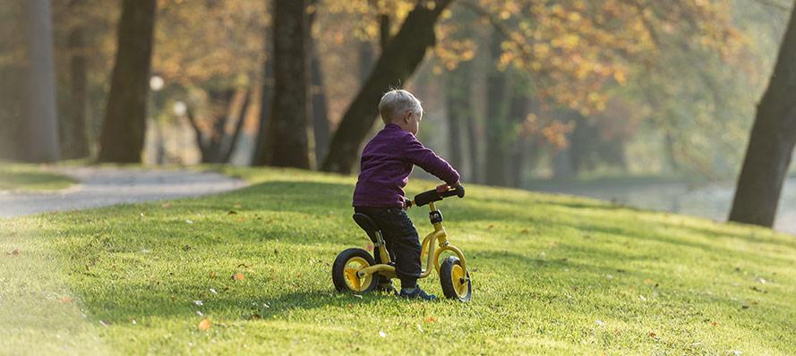 Alla kan lära sig cykla med en balanscykel